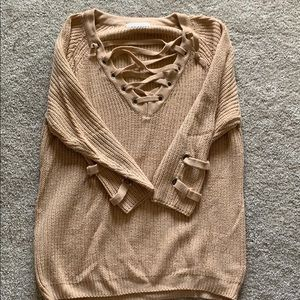 Sweaters - Tie up sweater